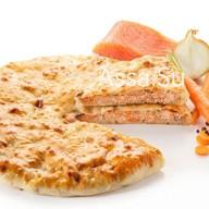 Пирог с семгой Сырх касаджын Фото