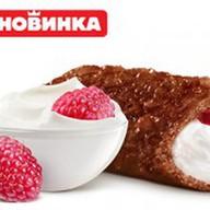 Пирожок шоколадно-малиновый чизкейк Фото