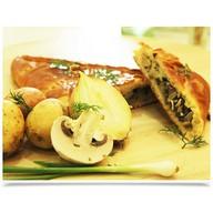 Безглютеновый с картофелем и грибами Фото
