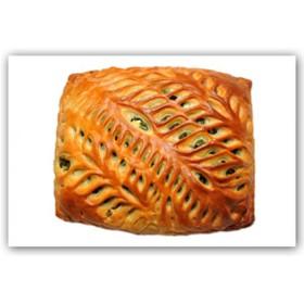 Пирог с курицей и овощами-гриль - Фото