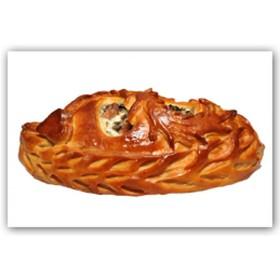 Пирог с картофелем, сыром и курицей - Фото