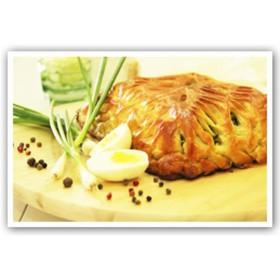 Бездрожжевой с зеленым луком и яйцом - Фото