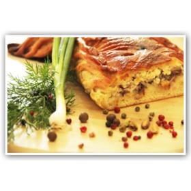 Пирог с сельдью и сметаной - Фото