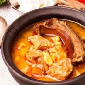Гороховый суп с копченостями - Фото