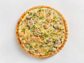 Киш с лососем и брокколи - Фото