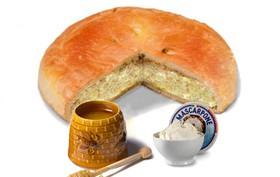 Пирог с тыквой, медом и сыром маскарпоне - Фото