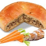 Пирог с курицей и морковью Фото