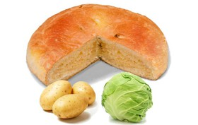 Пирог с капустой и картошкой - Фото