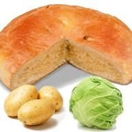 Пирог с капустой и картошкой Фото