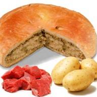 Пирог с мясом косули и картошкой Фото