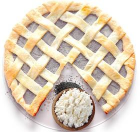 Песочный пирог с творогом и маком - Фото