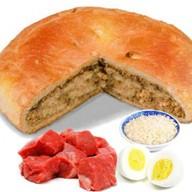 Пирог с говядиной, рисом и яйцом Фото
