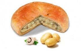 Пирог с картошкой и грибами - Фото