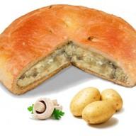 Пирог с картошкой и грибами Фото