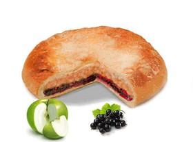 Постный пирог с яблоком и смородиной - Фото