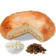 Пирог с творогом и изюмом Фото