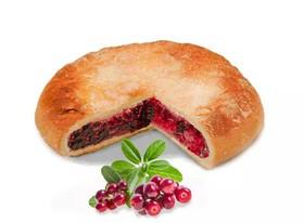 Постный пирог с брусникой - Фото