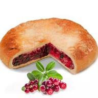 Постный пирог с брусникой Фото