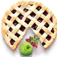 Песочный пирог с яблоком и брусникой Фото