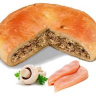 Пирог с кроликом и грибами Фото