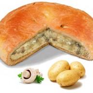 Постный пирог с картошкой и грибами Фото