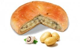 Постный пирог с картошкой и грибами - Фото