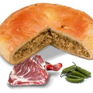 Пирог с бараниной и перцем халапеньо Фото