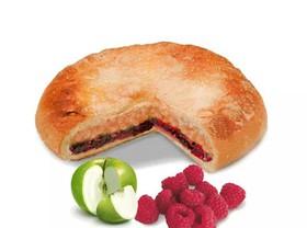 Постный пирог с яблоком и малиной - Фото