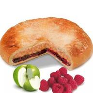 Постный пирог с яблоком и малиной Фото