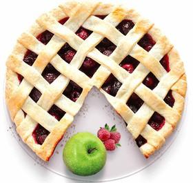 Песочный пирог с яблоком и малиной - Фото