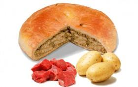 Пирог с мясом кабана и картошкой - Фото