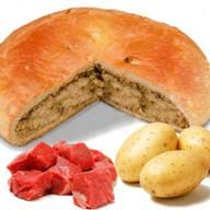 Пирог с мясом кабана и картошкой Фото