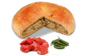 Пирог с говядиной и перцем халапеньо - Фото