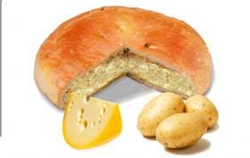 Пирог с картошкой и соленым сыром - Фото
