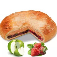 Постный пирог с яблоком и клубникой Фото