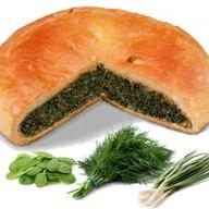Пирог со шпинатом и зеленью Фото