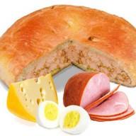 Пирог с ветчиной, сыром и яйцом Фото