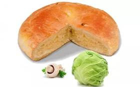 Постный пирог с капустой и грибами - Фото