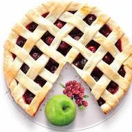 Песочный пирог с яблоком и клюквой Фото