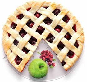 Песочный пирог с яблоком и клюквой - Фото