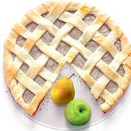 Песочный пирог с грушей и яблоком Фото