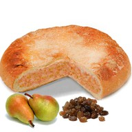 Пирог с грушей и изюмом Фото