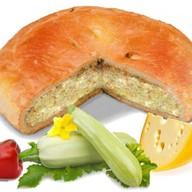 Пирог с кабачком, перцем и сыром Фото