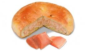 Пирог с лососем - Фото
