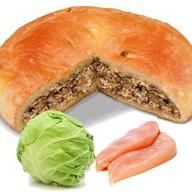 Пирог с капустой и индейкой Фото