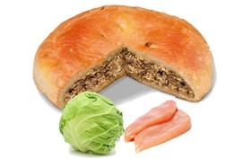 Пирог с капустой и индейкой - Фото