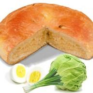 Пирог с капустой, яйцом и луком Фото