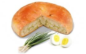 Пирог с яйцом и зелёным луком - Фото