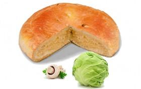 Пирог с капустой и грибами - Фото