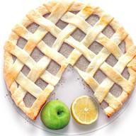 Песочный пирог с лимоном и яблоком Фото